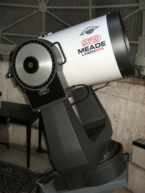 """Tähtitornin pääkaukoputki, Meade 16"""" LX200 GPS-SMT"""